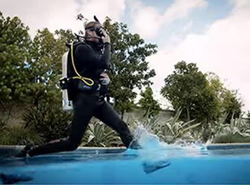 Com fer el pas de gegant per entrar a l'aigua?